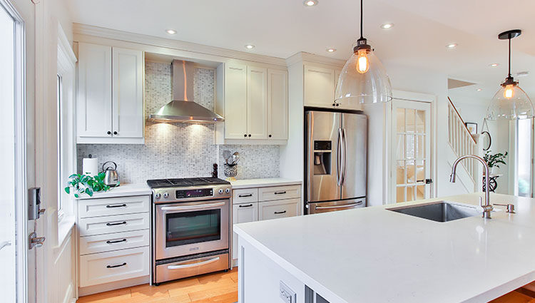 nice looking white kitchen