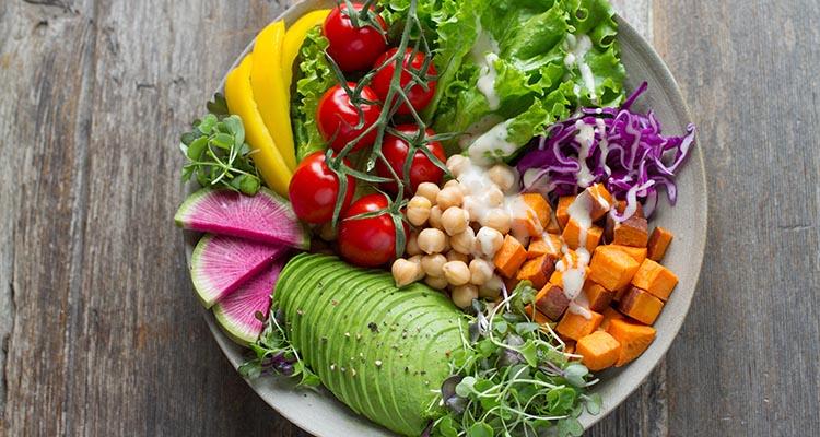 plate full of veggies