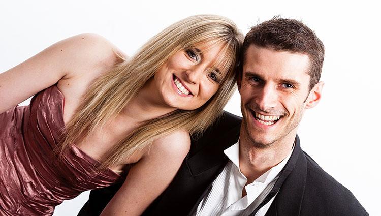 smiling couple white teeth