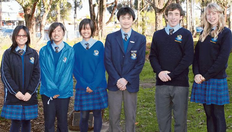 students in school uniform